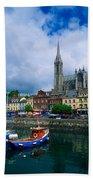 Cobh Cathedral & Harbour, Co Cork Bath Towel