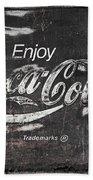 Coca Cola Pink Grunge Sign Bath Towel