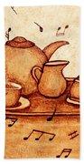 Coffee Break 2 Coffee Painting Bath Towel