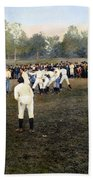 College Footbal Game, 1889 Bath Towel