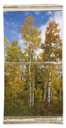 Colorado Autumn Aspens Picture Window View Bath Towel