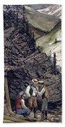 Colorado Silver Mines, 1874 Bath Towel