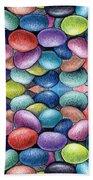 Colored Beans Design Bath Towel