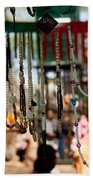 Colorful Beads At The Surajkund Mela Bath Towel