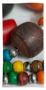 Colorful Beads In Chains Bath Towel