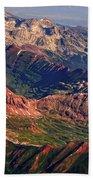 Colorful Colorado Rocky Mountains Planet Art Bath Towel