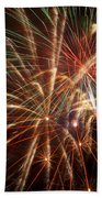 Colorful Fireworks Bath Towel