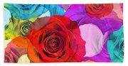 Colorful Floral Design  Bath Towel