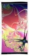 Colorful Frost Fractal 126 Bath Towel