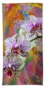 Colorful Orchids Bath Towel