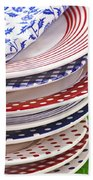 Colorful Plates Hand Towel