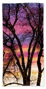 Colorful Silhouetted Trees 33 Bath Towel