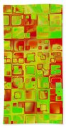 Colorful Squares II Bath Towel