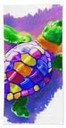 Colorful Turtle Bath Towel