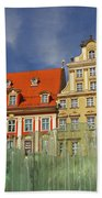Colourful Buildings And Fountain Bath Towel