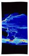 Computer Model Of Global Ocean Currents Bath Towel