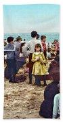 Coney Island: Beach, C1902 Bath Towel