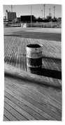 Coney Island Boardwalk In Black And White Bath Towel