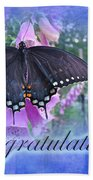 Congratulations Greeting Card - Spicebush Swallowtail Butterfly Bath Towel