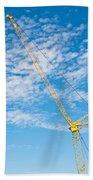 Construction Crane Bath Towel