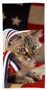 Contemplative Patriot Bath Towel