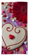 Cookie And Candy Hearts Bath Towel