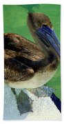 Cool Footed Pelican Bath Towel