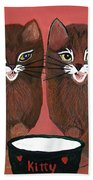 Copper Kitty Bath Towel