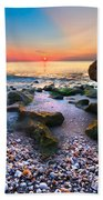 Coral Dawn Bath Towel
