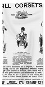 Corset Advertisement, 1892 Bath Towel