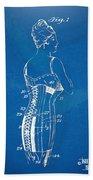 Corset Patent Series 1924 Bath Towel
