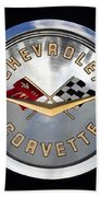 Corvette Name Plate Bath Towel