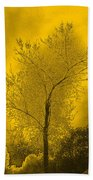 Cottonwood Tree April 2012 In Gold Bath Towel