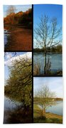 Country Parks Collage Bath Towel