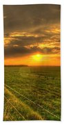 Country Roads Sunset Bath Towel