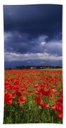 County Kildare, Ireland Poppy Field Bath Towel