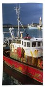 County Waterford, Ireland Fishing Boats Bath Towel