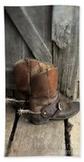 Cowboy Boots With Spurs Hand Towel