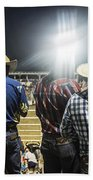 Cowboys At Rodeo Bath Towel