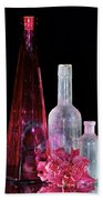 Cranberry And White Bottles Bath Towel