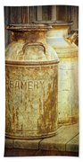 Creamery Cans In 1880 Town No 3098 Bath Towel