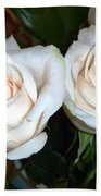 Creamy Roses I Bath Towel