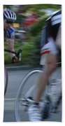 Criterium Bicycle Race 4 Bath Towel