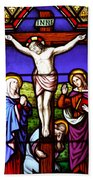 Cross Stained Glass Bath Towel