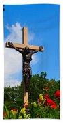 Crucifix In Indian River Bath Towel