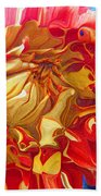 Red And Yellow Dahlia Bath Towel
