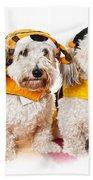 Cute Dogs In Halloween Costumes Bath Towel