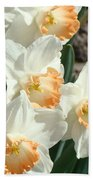 Daffodil Flowers Art Prints Spring Floral Bath Towel