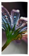 Daisy Abstract With Droplets Bath Towel