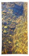 Dancing Lines And Stones Bath Towel
